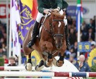 Clement McMahon and NLS Coole Al Clover took Ireland's first-ever title at the FEI World Championship for Young Horses when topping the 6 Year Old division at the 2010 event in Lanaken, Belgium. Photo by: FEI/Dirk Caremans