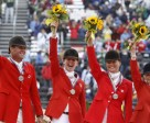The Canadian Eventing Team won the team silver medal at the Eventing Championships, at the 2010 Alltech FEI World Equestrian Games (WEG) held in Lexington, KY. (Left to Right – Kyle Carter, Selena O'Hanlon, Stephanie Rhodes-Bosch, and Hawley Bennett-Awad)