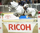 Margie Engle guides Indigo to victory in the $75,000 Ricoh Big Ben Challenge, capping off the International week at The Royal Horse Show. Photo by Michelle Dunn
