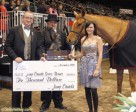 Ainsley Vince was presented with the2010 Jump Canada Series Trophy and a cheque for $10,000 Jump Canada, on November 12 at the Royal Horse Show in Toronto, ON. Photo by Cealy Tetley