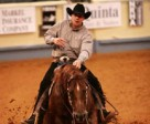 Rudi Kronsteiner (AUT) aboard Smart Spook, winners of the 2007 FEI World Reining Masters. Rudi was the first non-US rider to win the prestigious event. Photo by Tonya Garrison.