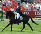 Ruth Edge (GBR) on Two Thyme takes the lead on Day 2 of Dressage at Mitsubishi Motors Badminton Horse Trials 2011 – first leg of the HSBC FEI Classics™ 2011. Photo by Kit Houghton/FEI