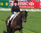 Laura Collett (GBR) on Rayef in the lead after Day 1 of Dressage at Mitsubishi Motors Badminton Horse Trials 2011 – opener for the HSBC FEI Classics™ 2011. Photo by Kit Houghton/FEI