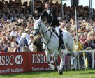 Mark Todd (NZL) on NZB Land Vision celebrates after winning at Mitsubishi Motors Badminton Horse Trials 2011 – first leg of the HSBC FEI Classics™ 2011. Photo by Peter Nixon/FEI