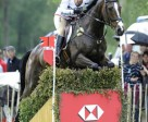 Piggy French (GBR) and the aptly named Flying Machine galloped through the worst of the weather to take over the lead at the third leg of the HSBC FEI Classics™ 2011 at Luhmühlen, presented by E.On Avacon. Photo by Peter Nixon/FEI