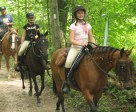 Wayne Gerry, with granddaughters Caitlyn and Jessica Gerry, enjoy the Regional Forest trails.