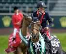 Leslie Howard and Lennox Lewis won the Nexen Cup Derby at the Spruce Meadows National.