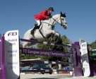Germany's Carsten-Otto Nagel and Corradina jumped to the top of the individual rankings at the FEI European Jumping Championships 2011 in Madrid, Spain today.  The Dutch are leading the team rankings going into the team decider. Photo by FEI/Kit Houghton.