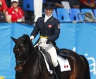 Jessica Phoenix of Uxbridge, ON, and Pavarotti finished first in the Dressage Phase of Eventing at the XVI Pan American Games in Guadalajara, Mexico. Photo by Cealy Tetley, www.tetleyphoto.com