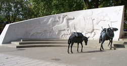 The Animals in War Memorial in Hyde Park, London
