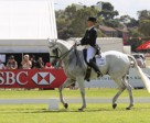Megan Jones (AUS) in the lead after Dressage at HSBC FEI Classics™ in Adelaide. Photo by Jenny Barnes Photography/FEI