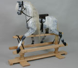 A dappled grey rocking horse...an enduring classic and favourite.