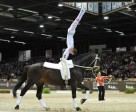 Switzerland's Patric Looser and his horse Record RS Von der Wintermuehle made an emotional retirement from the sport after winning the 2011/2012 FEI World Cup™ Vaulting Final at Bordeaux, France. Photo by FEI/Christophe Bricot/Jumping International de Bordeaux.