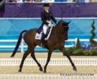 Canadian eventer Hawley Bennett-Awad, aboard Gin & Juice, in the opening phase of dressage on Saturday, July 28, at the 2012 London Olympic Games. Photo by Cealy Tetley, www.tetleyphoto.com