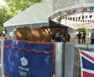 Heading into the Team Great Britain stables at Greenwich Park. Photo by Kit Houghton/FEI