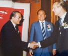 General Johnson Kim (KOR), left, with FEI President HRH Prince Philip in 1986 in Korea.