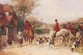 Heywood Hardy's painting The Stirrup Cup.