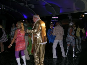 Mark and Pam Frostad cut the rug at the LongRun gala - great costumes!