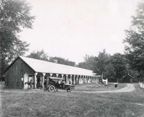 The backstretch at Saratoga July 26, 1930.