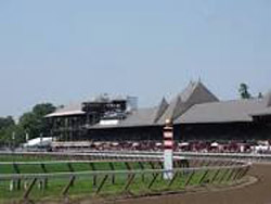 Saratoga today. The Grande Dame of the racing elite!