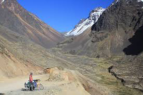 The Tres Cruses Pass in Bolivia.
