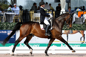 Belinda Trussell earned the highest score for Team Canada-1, finishing third in the FEI Grand Prix Special with a 70.569%.