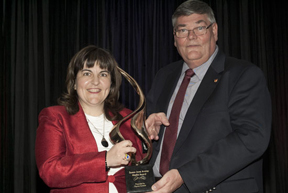 Horse Junkies United Founder and Editor, Patricia Da Silva and Michael Gallagher, President Equine Canada. Photo by Shereen Jerrett