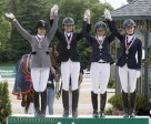 Junior Team Ontario celebrate their silver medal victory at the 2014 NAJYRC. (Cealy Tetley photo)