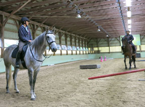 Jennifer Glover on Catcher and Donny Maida riding Olympic Silver Medalist, Ole.