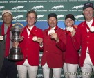 Chef d'equipe Mark Laskin, Ben Asselin, Eric Lamaze, Tiffany Foster and Ian Millar. (Cealy Tetley photo)