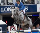Germany's Christian Ahlmann steered the Westphalian gelding, Hui Buh, to victory in the six-year-old category at the FEI World Breeding Jumping Championships for Young Horses 2014 at Lanaken in Belgium. Photo by FEI/Dirk Caremans)