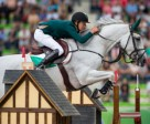 Ireland's Bertram Allen steered the lovely grey mare Molly Malone V to win the opening Speed leg of the Jumping Championships at the Alltech FEI World Equestrian Games™ in Caen, France. Photo by Dirk Caremans/FEI