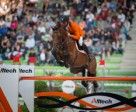 Jeroen Dubbeldam and Zenith SFN produced one of the three clears that promoted the Dutch team to pole position ahead of tomorrow's final round of the team Jumping championship at the Alltech FEI World Equestrian Games™ 2014 in Caen, France. Photo by Dirk Caremans/FEI