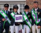 The winning German team of Andreas Ostholt, Anna-Maria Rieke, Josefa Sommer and Andreas Dibowski claimed the honours at Waregem (BEL), penultimate leg of the FEI Nations Cup™ Eventing 2014. Photo by EventingPhoto.com/FEI