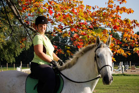 Luc and I enjoy the fall colours!