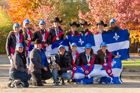 Team Quebec the 2014 CIEC Champions Photo by Eve-Lyne Ouellet Photography