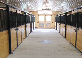 A simple and elegant Welded Rockwood stall system with posts