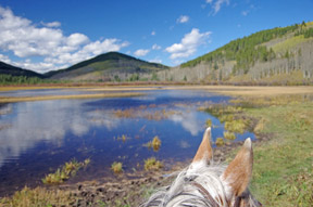Alberta skies right now are deep, deep blue – the deeper the blue the colder the temperatures, it's that simple a weather indicator. And, at this time of year, knowing your local weather forecast when riding more remote areas is a Very Good Idea.'