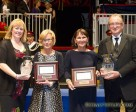 The Watermark Group was named the Jump Canada Owner of the Year for 2014. (left to right Left to right -- Karen Hendry-Ouellette, Manager Jumping; Jennifer Rogers and Deborah Roy, members of the Watermark Group; and John Taylor, Chair Jump Canada). Photo by Cealy Tetley