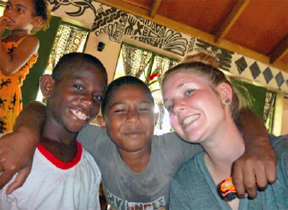 Brooke enjoying some time in Fiji, as a volunteer with Projects Abroad.