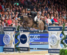 Germany's Marco Kutscher steered Cornet's Cristallo to victory at the seventh leg of the Longines FEI World Cup™ Jumping 2014/2015 Western European League at Olympia in London (GBR). Photo by FEI/Jon Stroud
