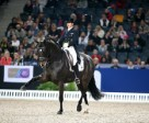 Sweden's Tinne Vilhelmson-Silfven and Don Auriello stepping it out in style on their way to victory in today's fourth leg of the Reem Acra FEI World Cup™ Dressage 2014/2015 Western European League series at Stockholm (SWE). Photo by FEI/Roland Thunholm