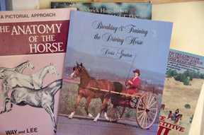 Doris Ganton's Breaking and Training the Driving Horse apparently is one of the classics for the aspiring into this discipline, and where we're deep into learning a whole new language.