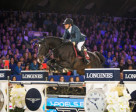 The French partnership of Simon Delestre and the stallion Qlassic Bois Margot produced a devastating turn of speed to win today's eighth leg of the Longines FEI World Cup™ Jumping 2014/2015 Western European League at Mechelen in Belgium. (FEI/Dirk Caremans)