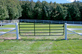 Make sure the gate is hung level and secure on your posts.