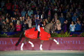 Reigning champions, Great Britain's Charlotte Dujardin and Valegro, strutted to victory once again at the sixth leg of the Reem Acra FEI World Cup™ Dressage 2014/2015 Western European League in Amsterdam, The Netherlands. Photo by FEI/Arnd Bronkhorst