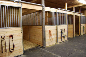 Inspect existing stalls for sturdiness and safety.