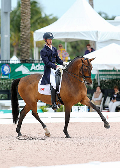 Chris von Martels took home the Individual Silver Medal from the Stillpoint Farm FEI Nations' Cup CDIO3* held in Wellington, Fla. from March 24-28. Photo by Susan J. Stickle Photography