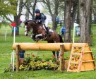 Tim Price (NZL) and Wesko, who just hold the advantage after a thrilling Cross Country day at the Rolex Kentucky Three-Day Event (USA), third leg of FEI Classics™ 2014/2015. Photo by Anthony Trollope/FEI