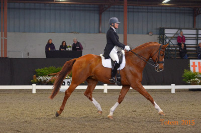 Leslie Reid and Fine and Smart, winners of the CDI3* Prix St. Georges. Photo by Totem Photographics